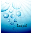 Deep water bubbles background vector image vector image