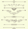 calligraphic design elements and page decor vector image