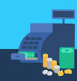 Cash register and money vector image