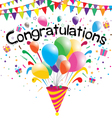 Congratulations party on a white background vector image