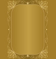 elegant unusual golden background with golden vector image
