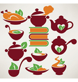 food symbols vector image