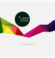 modern colorful geometric stripe on white space vector image