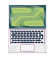 open laptop keyboard screen blank device vector image