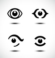 Set of eye icons vector image