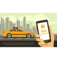 Taxi mobile app service vector image