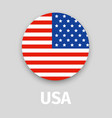 usa flag round icon with shadow vector image
