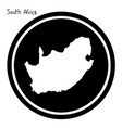 white map of south africa on black vector image