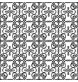 filigree linear black and white pattern vector image
