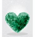 Green heart geometric shape vector image vector image