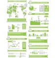 INFOGRAPHIC DEMOGRAP WORLD PERCENTAGE GREEN vector image vector image