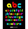 Colorful Decorative Alphabet vector image