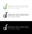 Dream decoration logo template vector image vector image
