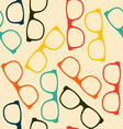 Seamless pattern with glasses in flat style vector image vector image