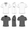 Mens polo shirt and t-shirt design templates vector image