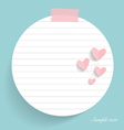 Note paper with hearts vector image vector image