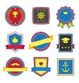 Vintage retro flat badges labels signs vector image vector image