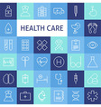 Flat Line Art Modern Healthcare and Medicine Icons vector image