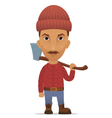 lumberer with an axe vector image
