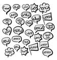 Big set comic text speech bubble vector image