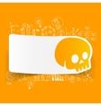Drawing business formulas skull vector image