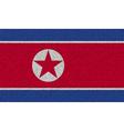 Flags Korea North on denim texture vector image