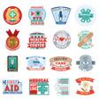 medical health center clinic logo emblem vector image