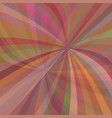 Multicolored curved ray burst background - design vector image