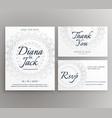 stylish mandala wedding decoration card suite vector image