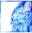 watercolor animal background in a blue color wing vector image
