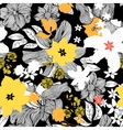 Abstract seamless pattern with isolated black and vector image
