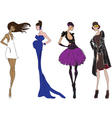 Four fashion girl vector image vector image