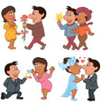 Love story of a man and woman vector image