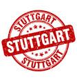 stuttgart stamp vector image