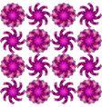 geometric flowers vector image
