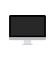 PC black and grey icon over white vector image vector image