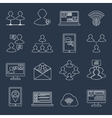 Communication icons set outline vector image