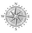 152 Compass rose vector image