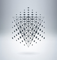 Pyramid with connected lines and dots Abstract vector image vector image