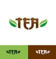 Tea text logo vector image