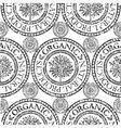 seamless tree pattern 020 grunge vector image