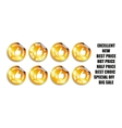 Thumbs up icons set Gold vector image