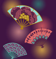 Fans pattern vector image