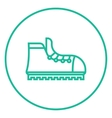 Hiking boot with crampons line icon vector image vector image
