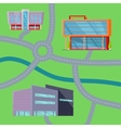 Shopping Center Concept Map vector image