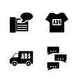 advertisements simple related icons vector image