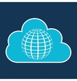cloud technology web language globe vector image