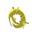 Crocodile Chasing His Own Tail Flat vector image