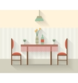 Dining table for date vector image