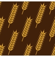 Ears of ripe wheat seamless pattern vector image
